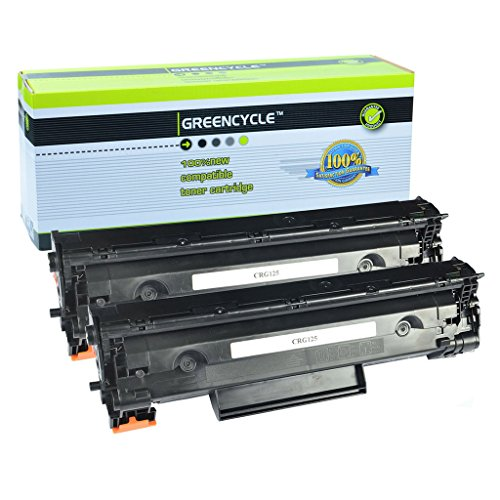 GREENCYCLE 2 Pack Compatible Canon 125 3484B001AA 125 CRG 125 Laser Black Toner Cartridge use in Canon ImageClass LBP6000 LBP6030w MF3010 Printer