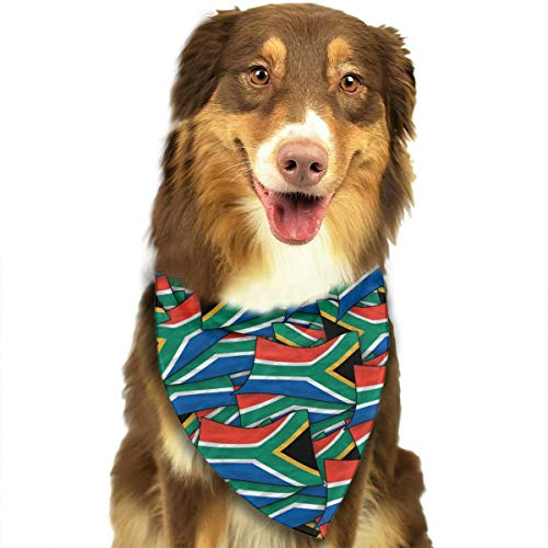 70's Costumes South Africa - OURFASHION South Africa Flag Wave Collage Bandana Triangle Bibs Scarfs Accessories for Pet Cats and Puppies.Size is About 27.6x11.8 Inches (70x30cm).