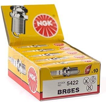 Amazon.com: NGK (5422) BR8ES Bujía – Pack de 10: Automotive