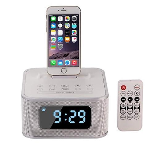 NGB Altavoz inalámbrico Bluetooth Radio Reloj Despertador ...