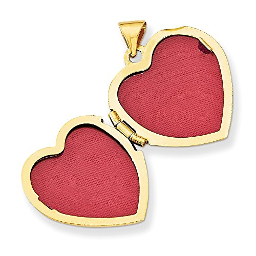 14k Yellow Gold Claddagh Heart Locket (Color H-I, Clarity - Locket Gold Claddagh