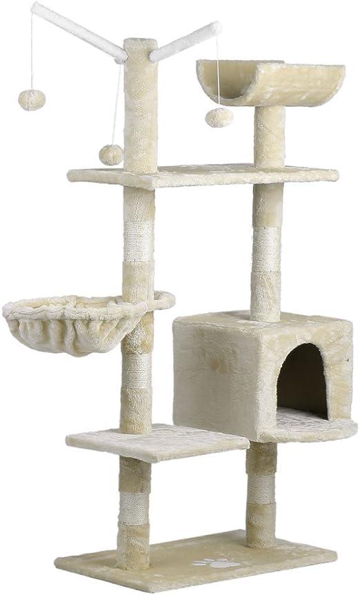 Homgrace Cono de árbol para gatos, torre de actividades para ...
