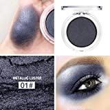 Staron Pressed Glitter Highlight Diamond Eyes Makeup Single Metallic Highly Pigmented and Long-Lasting Mineral Shimmer Makeup Pallet Eye Shadows Flash Color Cosmetic (A)