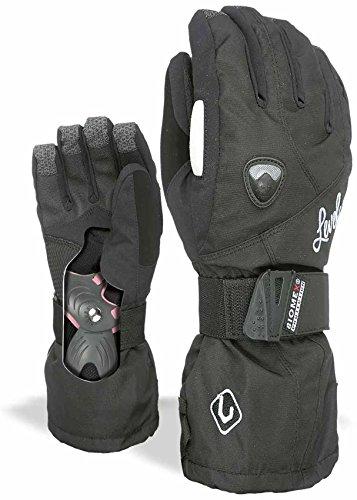 Butterfly Womens Snowboard (Level Women's Butterfly Glove,Black,7.5 / Small Medium)