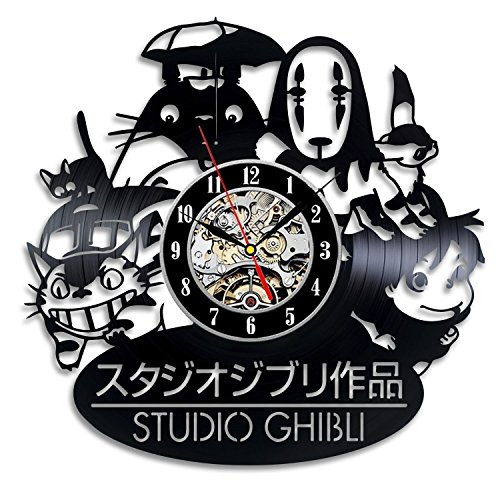 Studio Ghibli Anime Vinyl Record Wall Clock