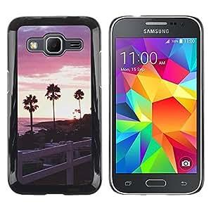 Paccase / SLIM PC / Aliminium Casa Carcasa Funda Case Cover - Trees California Fence Sea - Samsung Galaxy Core Prime SM-G360