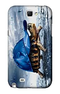 S0084 Turtle in the Rain Case Cover for Samsung Galaxy Note 2