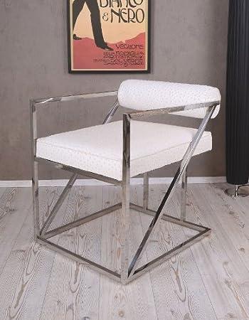 Retro Designer Sessel Weiss Bauhaus Stil Loft Ambiente