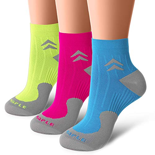 Bluemaple Compression Socks for Women and Men, Compression Ankle Socks, Regular wear, Fashion wear -Say Goodbye to Your (Comfort Hiking Sock)