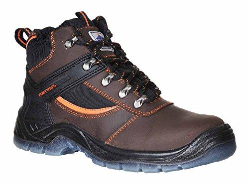 Steelite SUW–Mustang Workwear Knöchel Sicherheitsstiefel S3, EU 45 - UK 10.5, schwarz, 1 braun