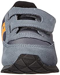 Saucony Jazz Hook and Loop Sneaker (Toddler/Little Kid),Grey/Orange,4 M US Toddler