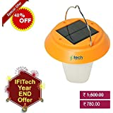 IFITech® Portable Led Decorative Solar Rechargeable Camping Lantern Lamp with Solar and Micro USB Charging Method
