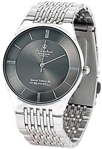 St. Leonhard Herren-Armbanduhr aus Edelstahl