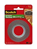 4 Pack Of Scotch Exterior Mounting Tape, 1-Inch by 60-Inch by 3M,White
