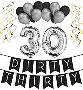 Dirty thirty 30th birthday party pack for 30th birthday party decoration packs