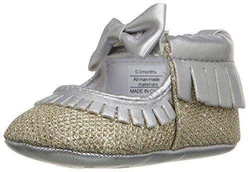 Kids Footwear (Rosie Pope Kids Footwear Prewalker Glamour Girl Crib Shoe (Infant), Silver, 0-3 Months M US Infant)
