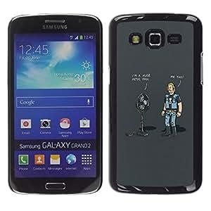 All Phone Most Case / Oferta Especial Duro Teléfono Inteligente PC Cáscara Funda Cubierta de proteccion Caso / Hard Case Samsung Galaxy Grand 2 // Huge Metal Fan - Funny