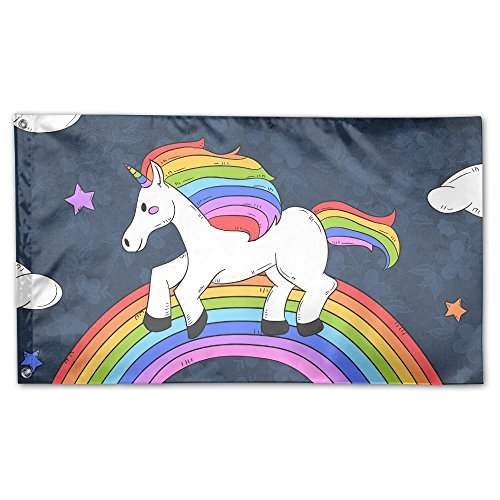 - Rainbow Unicorn Horse Home Garden Flags Polyester Flag Indoor/Outdoor Wall Banners Decorative Flag Garden Flag 3x5 Foot