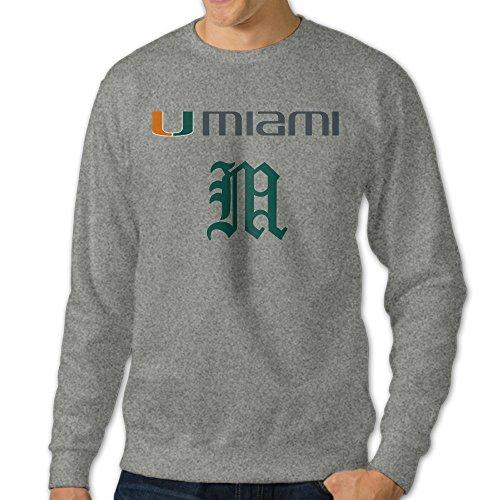 jjvat-mens-university-of-miami-hurricanes-crew-neck-sweatshirt-size-m