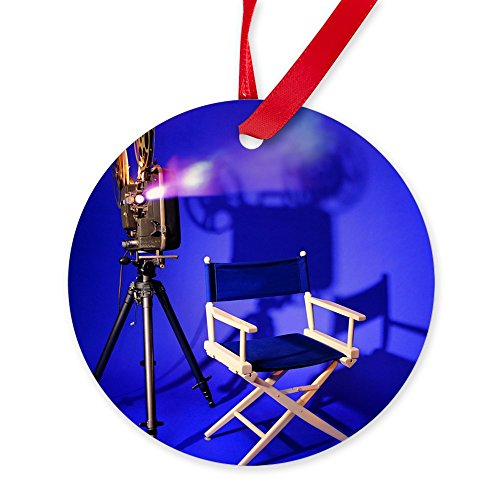 CafePress - Director Chair Ornament (Round) - Round Christmas Ornament (Custom Director's Chair)
