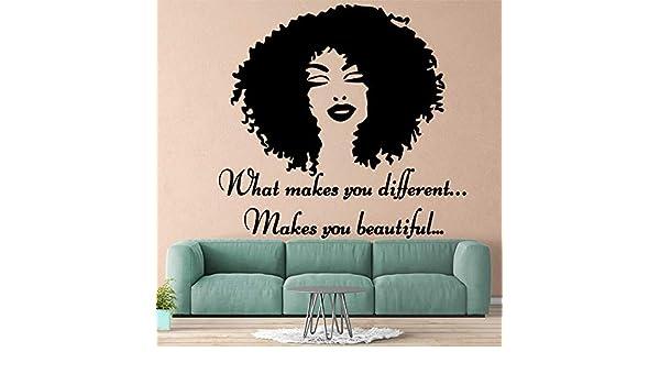 GJQFJBS Moda mujer africana vinilo pared pegatinas ...