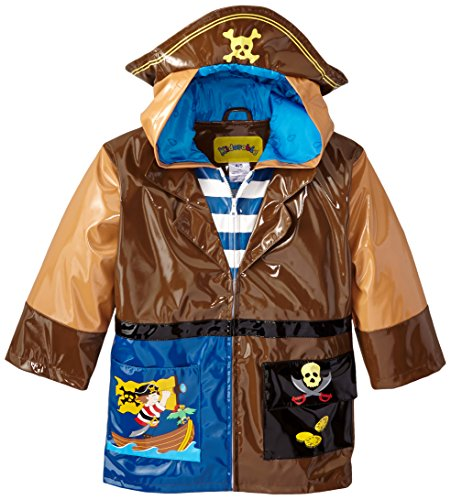 [Kidorable Little Boys' Pirate Raincoat, Brown, 5/6] (Pirate Coat For Sale)