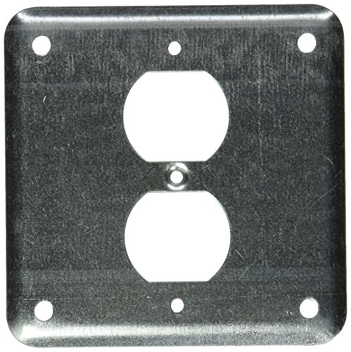 (Steel City 473-NEC Pre-Galvanized Steel Square Box Surface Cover with One Duplex Device)