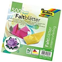 Global Art 8965 Craft Supplies Glue Arts Folia 6-Inch by 6-Inch Origami Paper, 10 Colors, 500-Pack