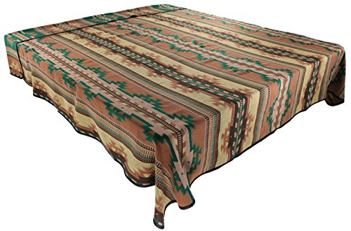 Native Pottery Southwestern American (Splendid Exchange Southwestern Bedding Bonita Collection, Mix and Match, King Size Reversible Bedspread, Bonita Tan and Green)