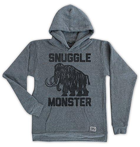 Buy Me Brunch Men's Snuggle Monster Hoody M Grey