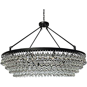 Celeste Extra Large Glass Drop Crystal Chandelier Black Amazoncom - Chandelier drop crystals