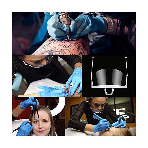 5-Stck-Mund-Gesichtsschutz-Gesichtsschild-aus-Kunststoff-Visier-Schutzschild-Schutzvisier-Komfortabel-Anti-Saliva-Splash
