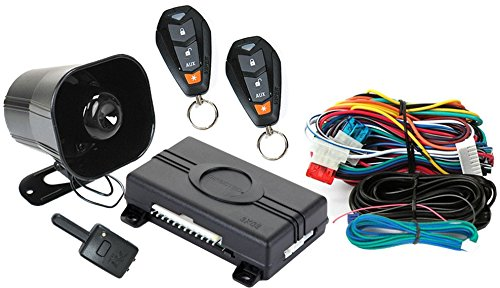 Viper 350 PLUS 3105V 1 Way Car Alarm Keyless Entry,BLACK