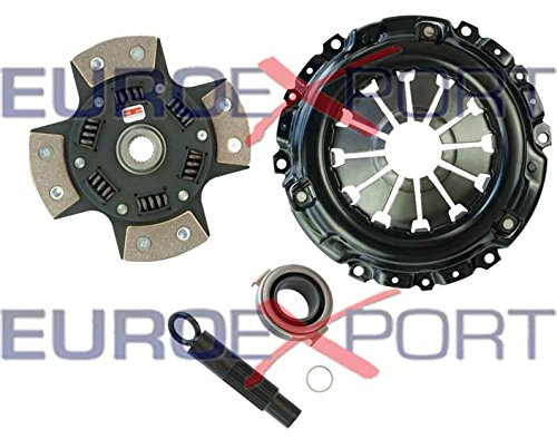 (Competition Clutch Disc and Pressure Plate Kit for Honda Acura K20 K24 RSX Ceramic 4 Puck Sprung Stage 5)
