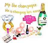 Bachelorette Party Decorations Kit - Rose Gold Bridal Shower Supplies | Bride to Be Sash and Veil, Glitter Banner| Bride Tribe Tattoos, Dare Cards | Champagne + Ring Foil Balloon | Rose Gold Balloons