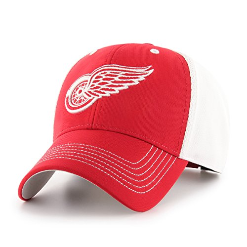 Hockey Hat Detroit Red Wings (OTS NHL Detroit Red Wings Sling All-Star MVP Adjustable Hat, Red, One Size)