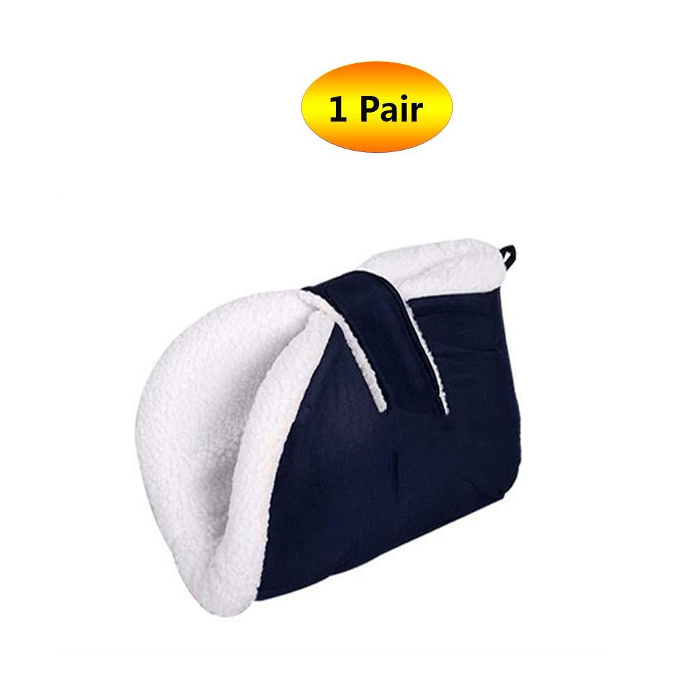 ヒールフロートヒールプロテクター、ソフト慰めヒールプロテクター枕、高齢者の足補正カバー - ブルー B07SBMVJRY