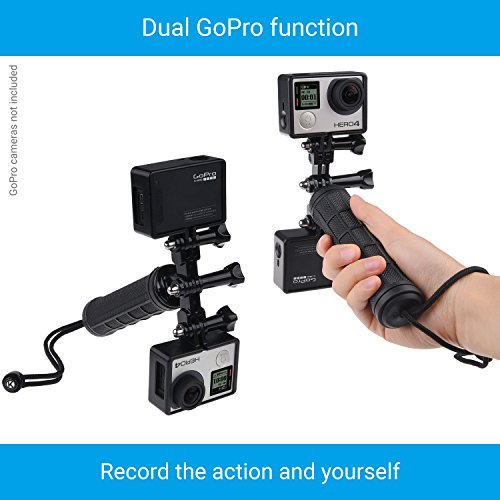 CamKix Replacement Stabilizing Hand Grip Compatible with GoPro Hero with Dual Mount, Tripod Adapter and Universal Phone Holder - Record Videos with 2 Different Camera Angles Simultaneously by CamKix (Image #1)