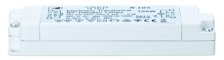 Paulmann TIP VDE Elektroniktrafo max. 35-105W, 230/12V 105VA Weiß 97782 977.88