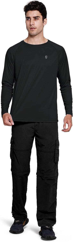 Soniz Mens UPF 50 UV Sun Protection Long Sleeve Shirt Quick Dry Lightweight Running Outdoor Shirt