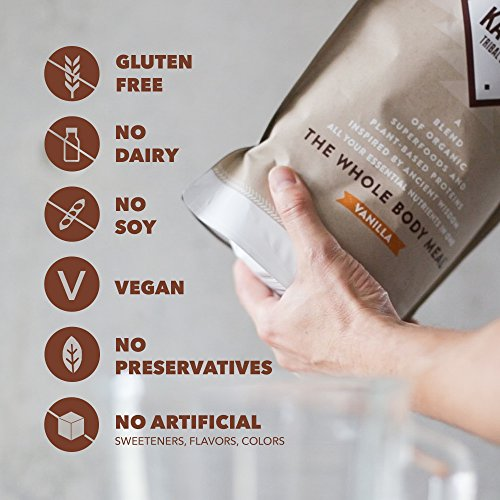 Ka'Chava Meal Replacement Shake - A Blend of Organic Superfoods and Plant-Based Protein - The Ultimate All-In-One Whole Body Meal. (Vanilla) 900g Bag = 15 meals (60g serving size) 7