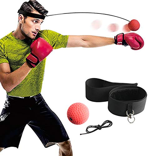 Gdaytao Boxing Reflex Ball Set, Reflex Ball on String with Headband, Reflex Punching Fight Equipment with Rubber Ball…