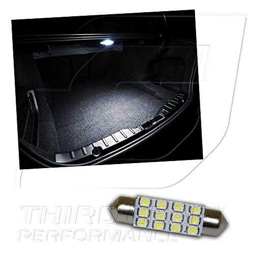 Optix TGP 42mm White 12 LED SMD Trunk Wedge Light Bulb Single 1999-2011 Cadillac Escalade ALL