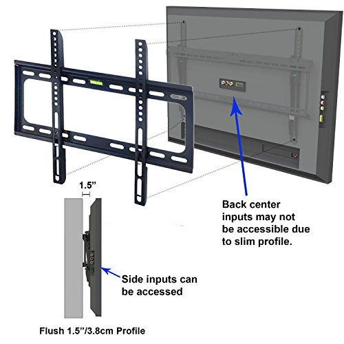 Maxesla Ultra Slim Tv Wall Mount For Most 26 Quot 63 Quot Lcd Led