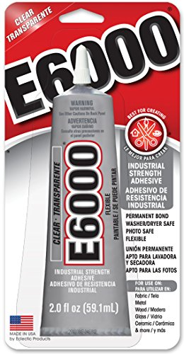 Fabric Adhesive Dries Clear (E6000 237032 Craft Adhesive, 2 fl oz Clear)