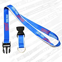 Subaru STI Blue Neck Lanyard - Perfect for Car Enthusiast Office Neck Lanyards Strap with Detachable Buckle, Enhanced Model Hook and Quick Release Tether Ideal for Phones, Camera, iPod, USB, Key, Keychain, ID Name Tag Badge Holder