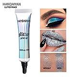 Tiandino Eye Primer Makeup Eyeshadow Base, Professional Prevent Oily Lids & Creasing Clear Waterproof Eyeshadow Primer 10g
