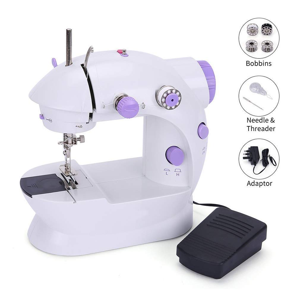 ZYG.GG Mini Sewing Machine Double Speed Portable Electric Sewing Machine with Lamp for Beginners and Kids by ZYG.GG