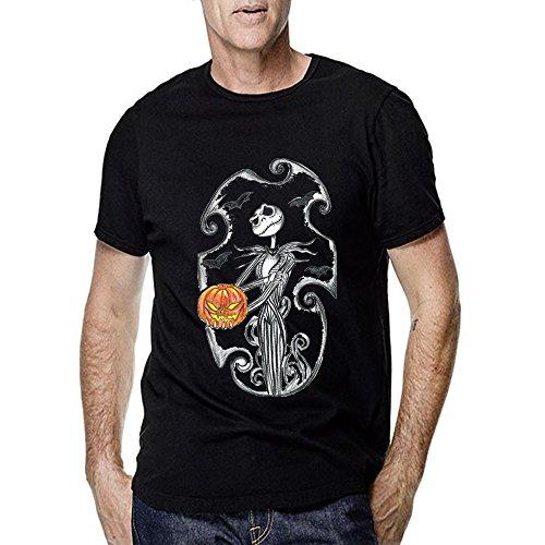 jack skellington tattoo design for Men T Shirt (Large, -