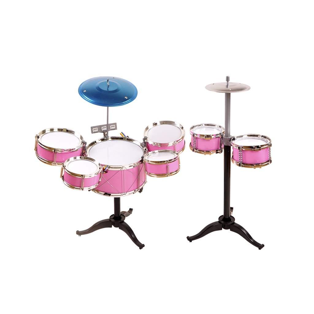 LIUFS-Trommel Schlagzeug Kinder Schläge Musikinstrumente Musik Training Jazz Drum Geschenke Jungen Und Mädchen Schlagen Spielzeug (Farbe   Rosa, größe   C) Rosa B